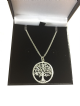 18K ROSE GOLD VERMEIL DIAMOND PAVE FINISH SILVER TREE OF LIFE YGGDRASIL ADJUSTABLE NECKLACE